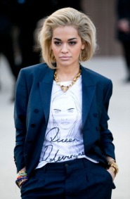 LONDON, ENGLAND - FEBRUARY 18: Rita Ora attends the Burberry Prorsum show during London Fashion Week Fall/Winter 2013/14>> at on February 18, 2013 in London, England. (Photo by John Phillips/UK Press via Getty Images)